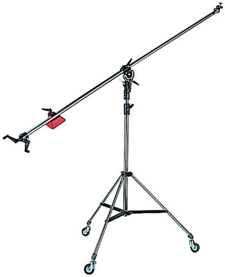 Light Stand with Boom Arm in Black