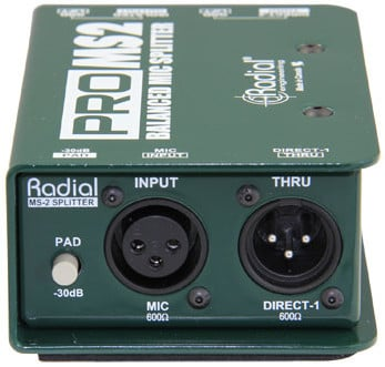 Passive Microphone Splitter