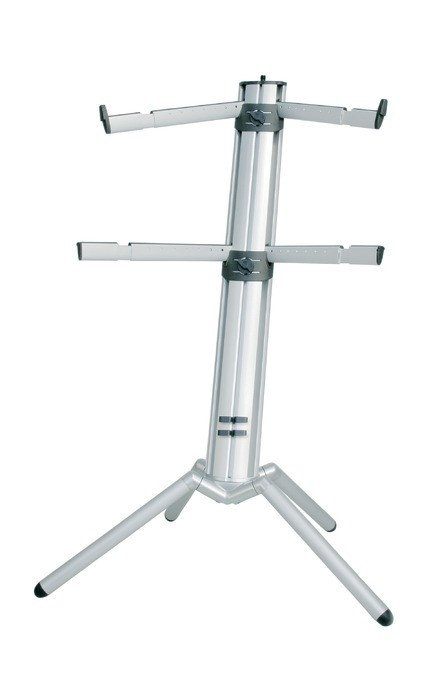 2-Tier Aluminum Column Keyboard Stand