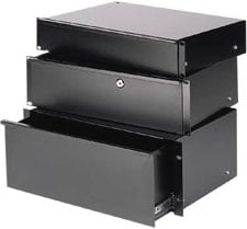 "Economy Sliding Rack Drawer, 2 RU (12"" Depth)"
