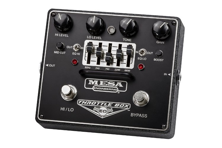 Dual-Mode High-Gain Distortion Pedal with Assignable 5-Band EQ