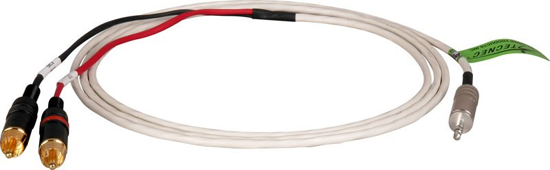 100 ft Plenum 3.5 TRS Plug to Dual RCA Audio Cable
