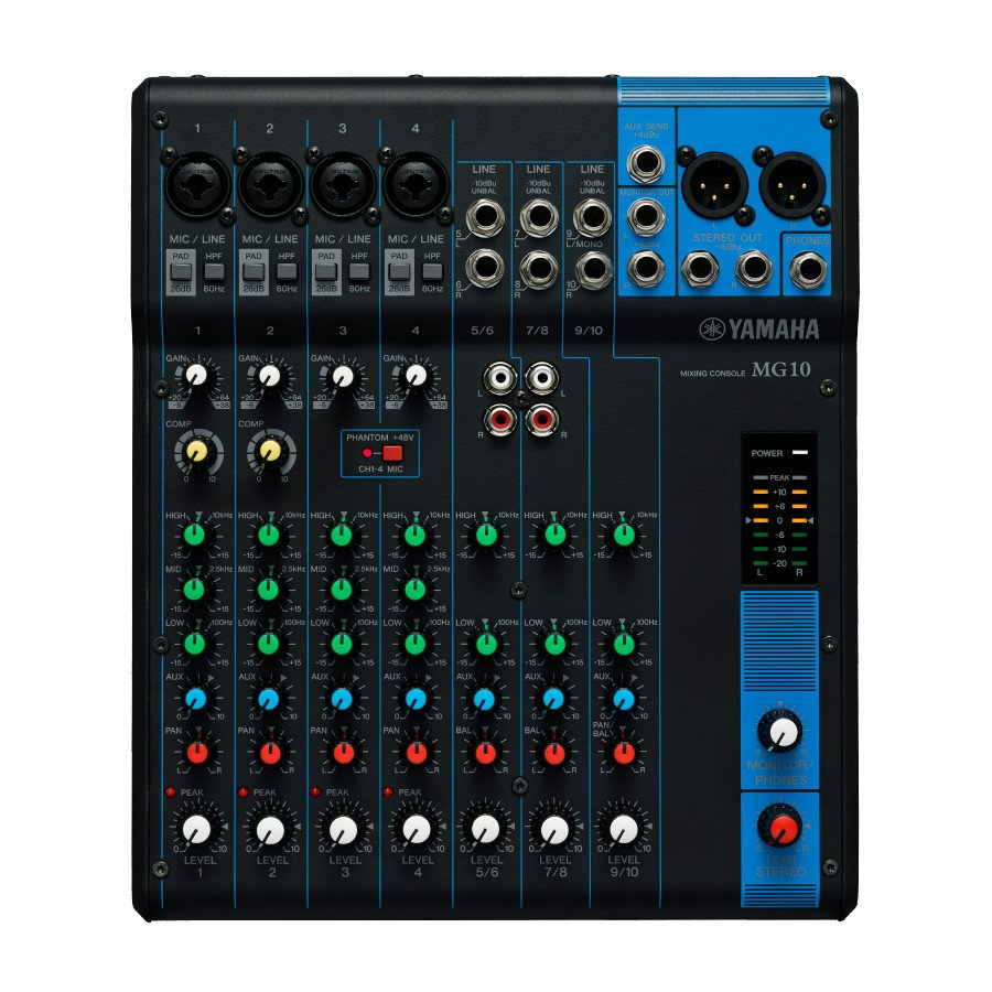 10 Channel Analog Mixer