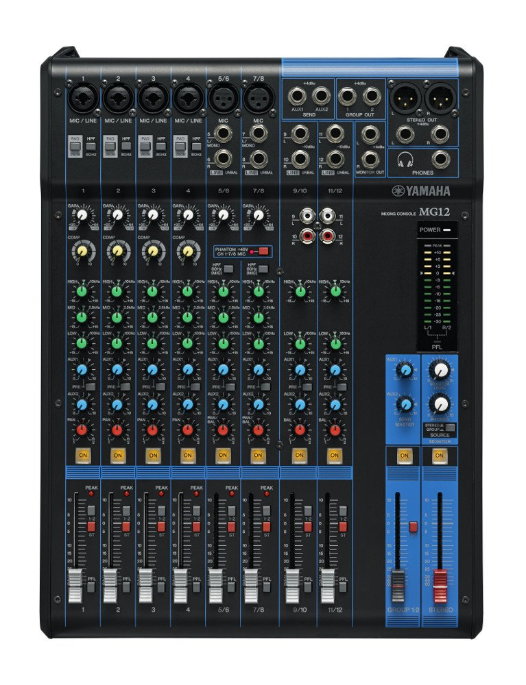 12 Channel Analog Mixer