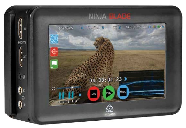"10-bit 4:2:2 - 220Mbps - 2.5"" HDD or SSD Portable Camera-Mounted HDMI Recorder-Monitor"
