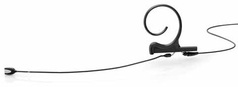 d:fine Single Ear Omnidirectional Headset Microphone with 90mm Boom Arm in Black