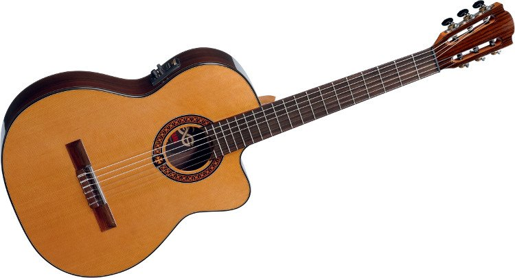 Natural Finish Classical Cutaway Acoustic/Electric Guitar with StudioLoag Plus Electronics