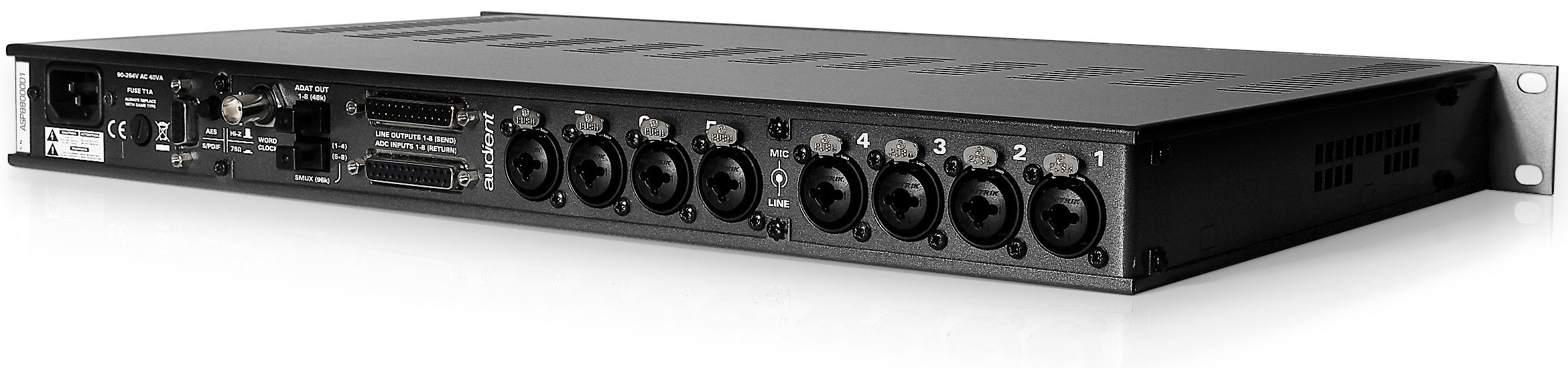 8 Channel Microphone Preamplifier and Analog / Digital Converter