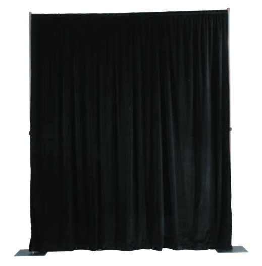 4'x13' Ultra Velour Drapery Panel in Black