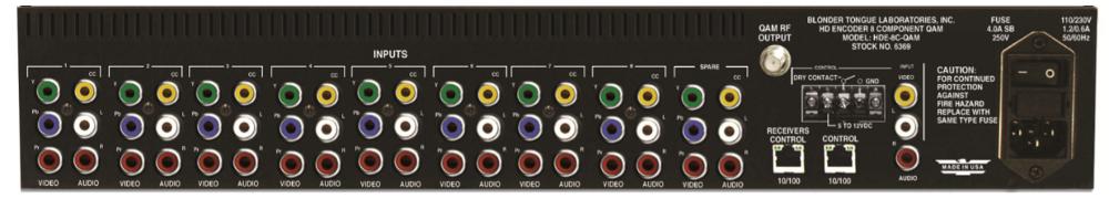 MPEG-2 HD Encoder 8 Component QAM