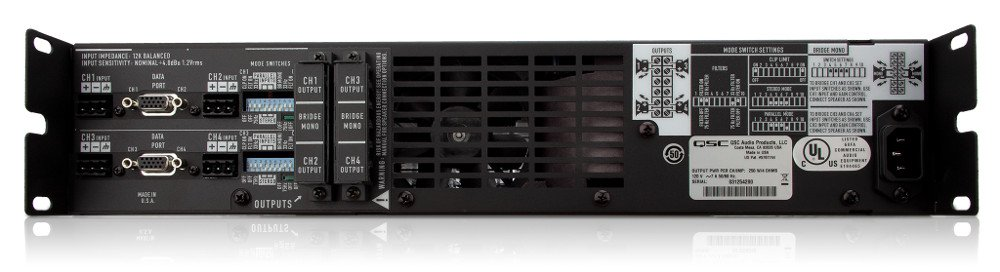 QSC CX204V 4-Channel Power Amplifier, 200W Per Channel At