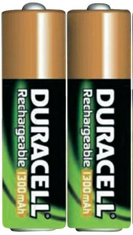 2 Rechargeable Duracell Batteries