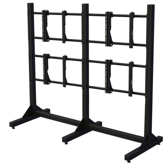 Modular 2x2 Video Wall Stand
