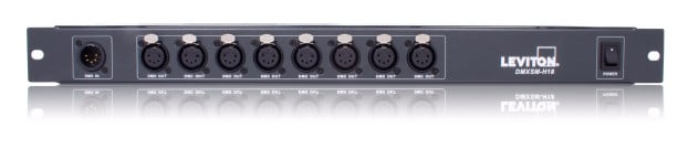 1 In, 8 Out DMX512 Data Distribution Hub