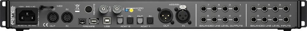 12-Input Rackmount FireWire Audio Interface