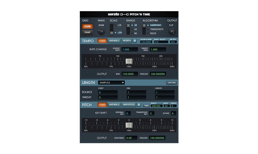 Timestretch/Pitch Shift AudioSuite Software Plug-In
