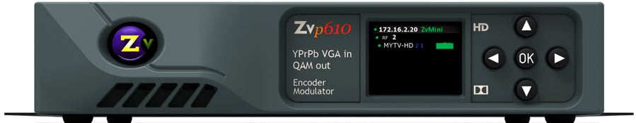 Single Channel Component VGA In - QAM Out Encoder/Modulator