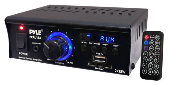 2x15W Stereo Power Amplifier with USB/SD Card Reader