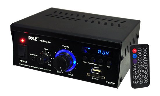 2x25W Stereo Power Amplifier with USB/SD Card Reader