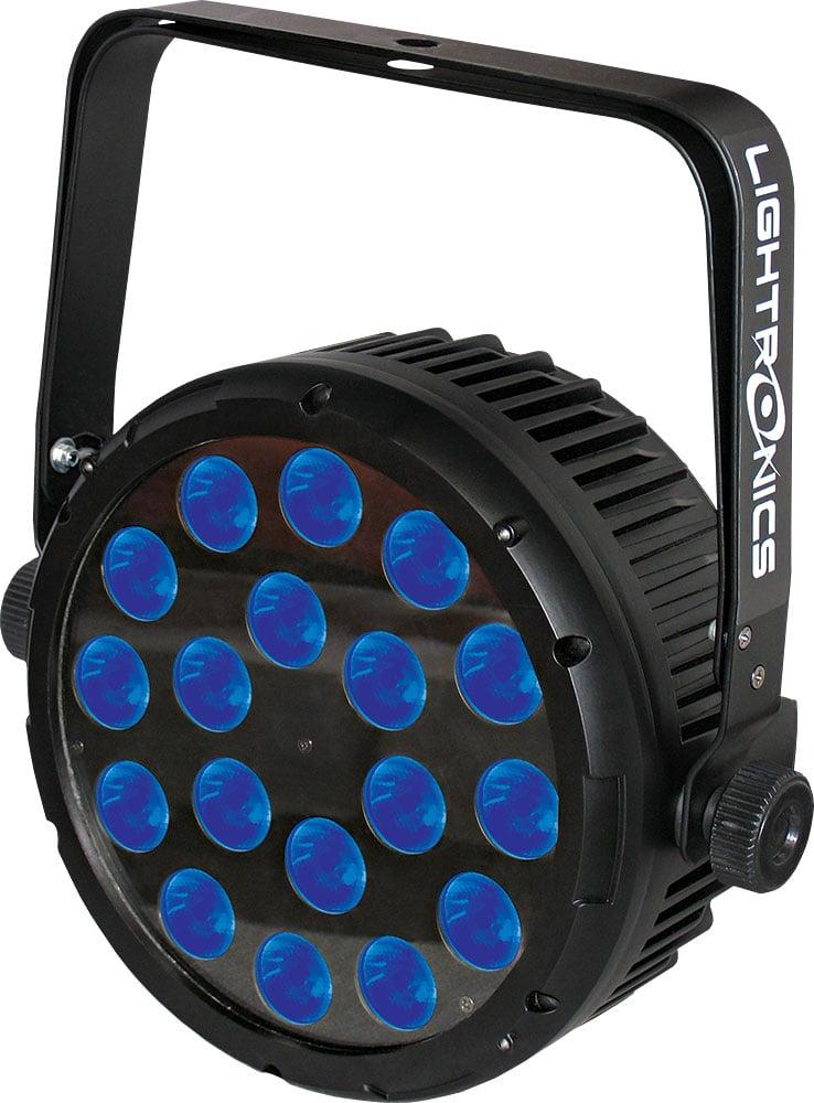 LED PAR Lighting Fixture, 18 x 8W RGBW, 4-in-1, 45° Lens