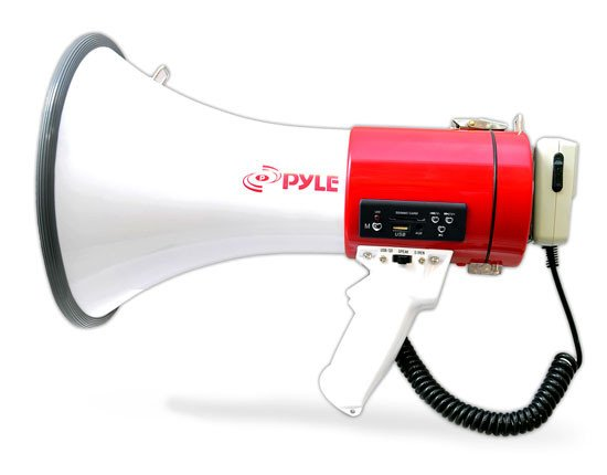 50W Rechargable Megaphone with USB/SD Card Reader