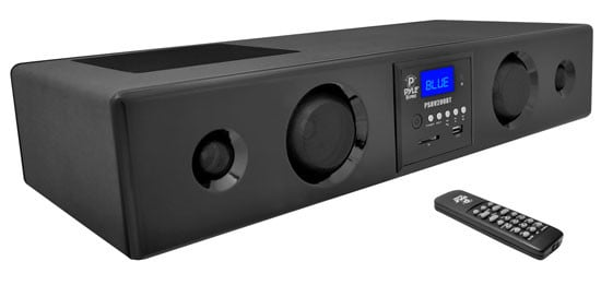 Pyle Pro PSBV200BT 300W Bluetooth Soundbar with USB/SD Reader and FM Radio PSBV200BT