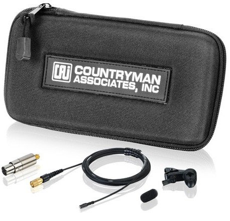 B2D Hardwired Directional Lavalier Microphone in Black with Detachable 3-Pin XLR-M Connector