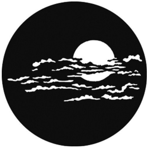 "Steel GAM Gobo, ""Moon with Clouds 1"" Pattern"