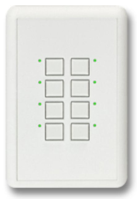 Mystique Series 2-Wire 2-Button Station in White with Blue LED Indicators