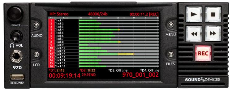 Sound Devices 970 64-Track Dante & MADI Audio Recorder 970