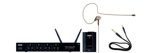 4 Channel Wireless Earhook Microphone System