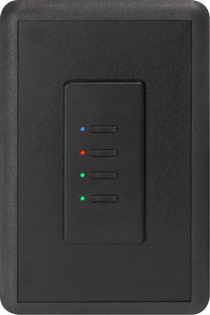 Ultra Series Digital 5-Wire 4 Button Station in Black with RGB LED Indicators