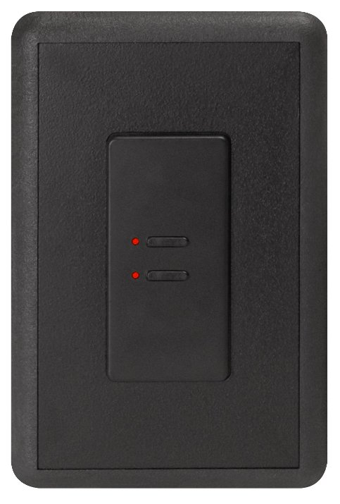 Ultra Series Digital 5-Wire 2 Button Station in Black with Red LED Indicators