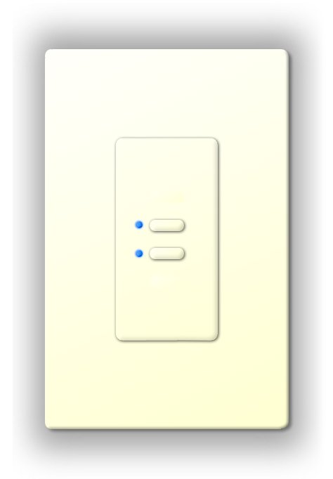 Ultra Series Digital 5-Wire 2 Button Station in White with Blue LED Indicators