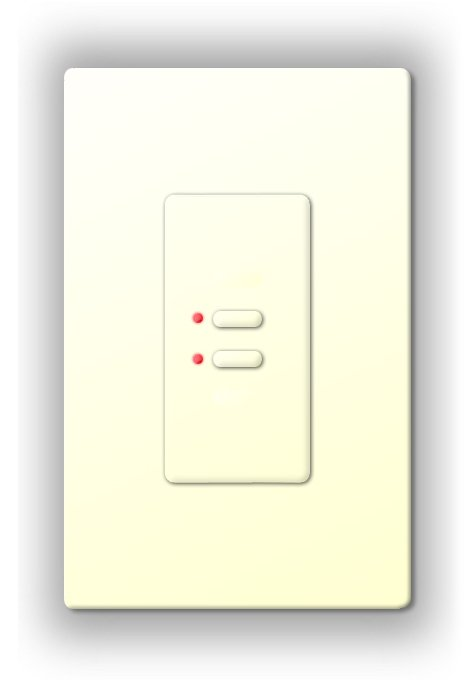 Ultra Series Digital 5-Wire 2 Button Station in White with Red LED Indicators