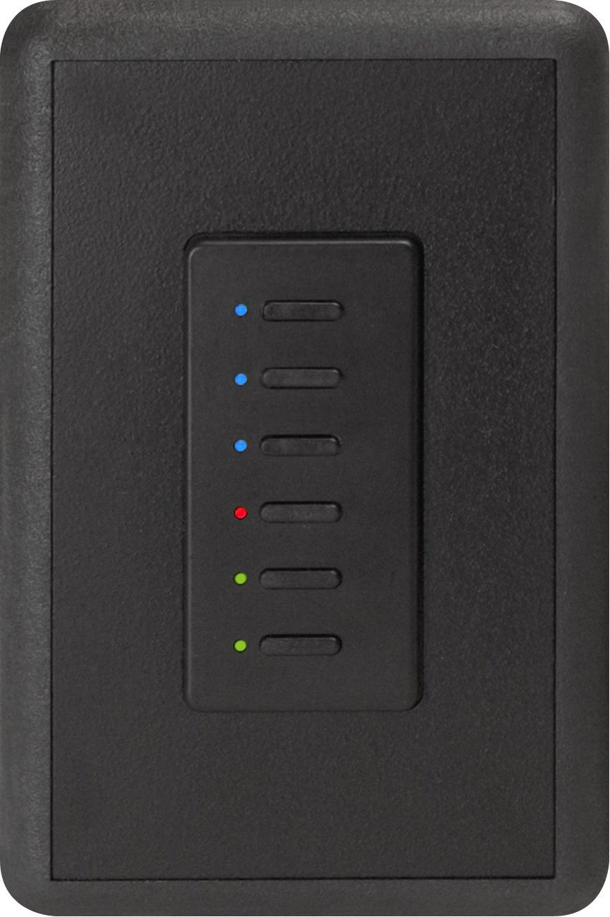 Ultra Series Digital 2-Wire 6 Button Station in Black with RGB LED Indicators