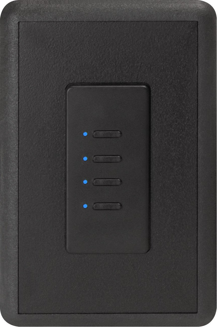 Ultra Series Digital 2-Wire 4 Button Station in Black withBlue LED Indicators