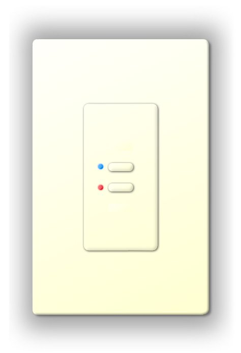 Ultra Series Digital 2-Wire 2 Button Station in White with RGB LED Indicators