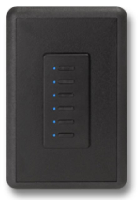 Mystique 5-Wire 8 Button Network Station in Black with Blue LED Indicators
