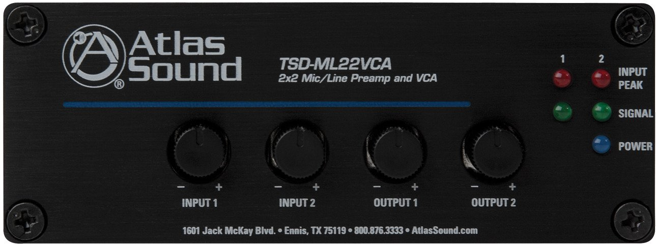 2x2 Microphone / Line Preamp and VCA