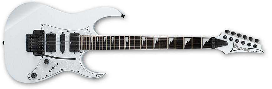 White RG Series Electric Guitar with Edge Zero II Tremolo
