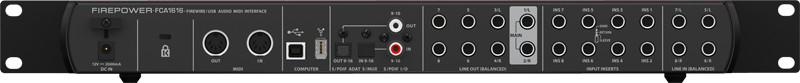 16x16 24-Bit/96kHz FireWire/USB Audio/MIDI Interface