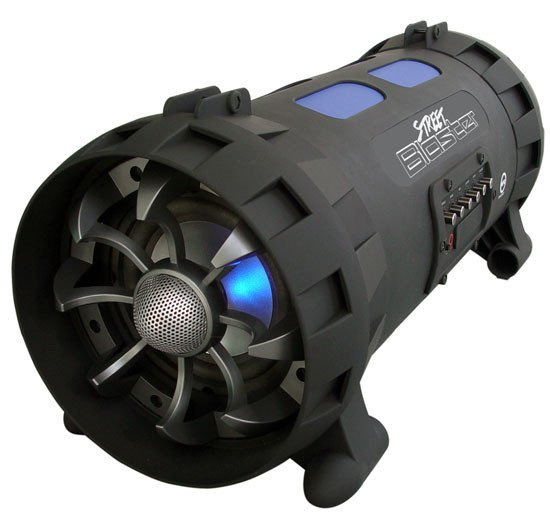 Street Blaster 100W Wireless BoomBox with Bluetooth Connectivity
