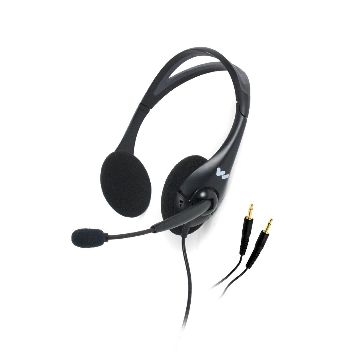 Dual Ear Noise-Canceling Headset MIcrophone with 3.5mm Connector