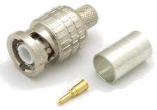 50 Ohm Crimp Type Straight Plug BNC Connector