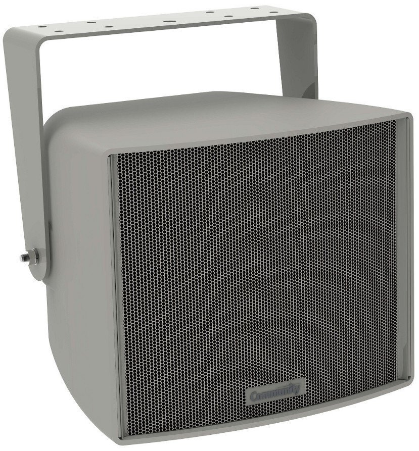 "3-Way 8"" Full Range Weather Resistant Loudspeaker in Gray with 90x60 Coverage Pattern"