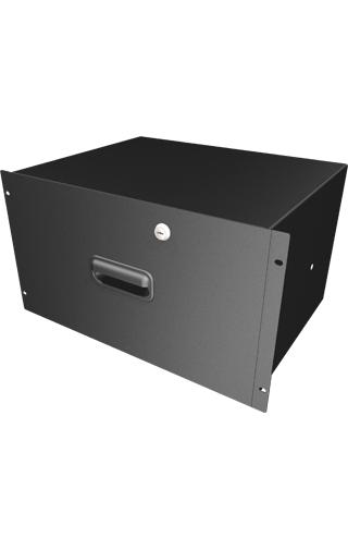 "6RU 13.75"" Locking Deep Rack Drawer in Black"