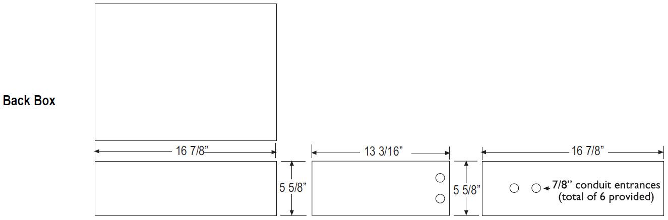 18 Gauge Metal Backbox for CFX42 2 Way Stairstep Speaker