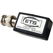 ETS Male BNC to RJ45 Pins 5 & 4 Composite Video Over Cat 5 Extended Baseband Balun