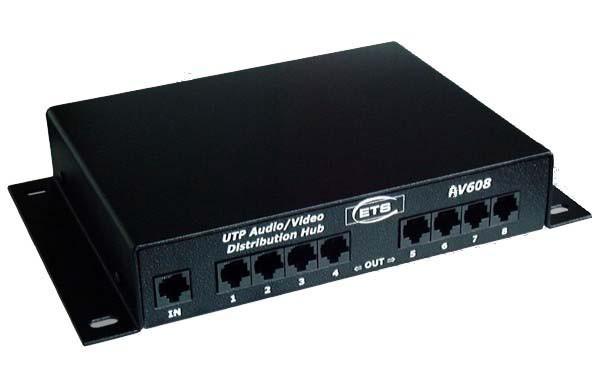 8-Ch Audio/Video Distribution Hub